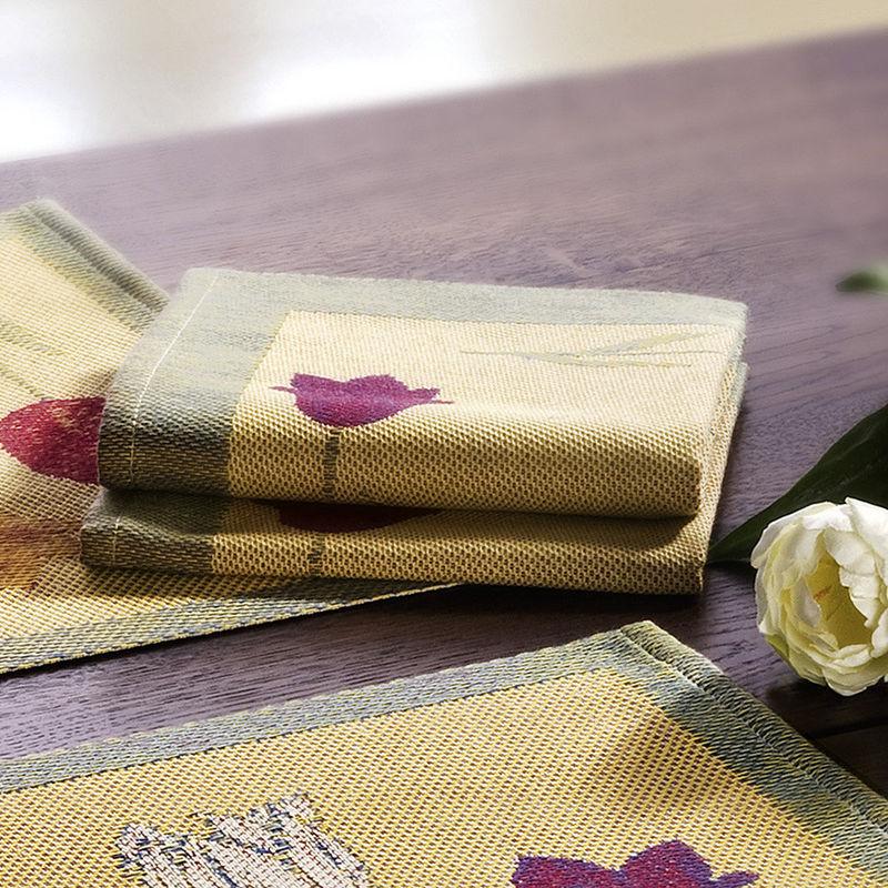 serviette erfrischend sch ne fr hlings tischw sche aus. Black Bedroom Furniture Sets. Home Design Ideas