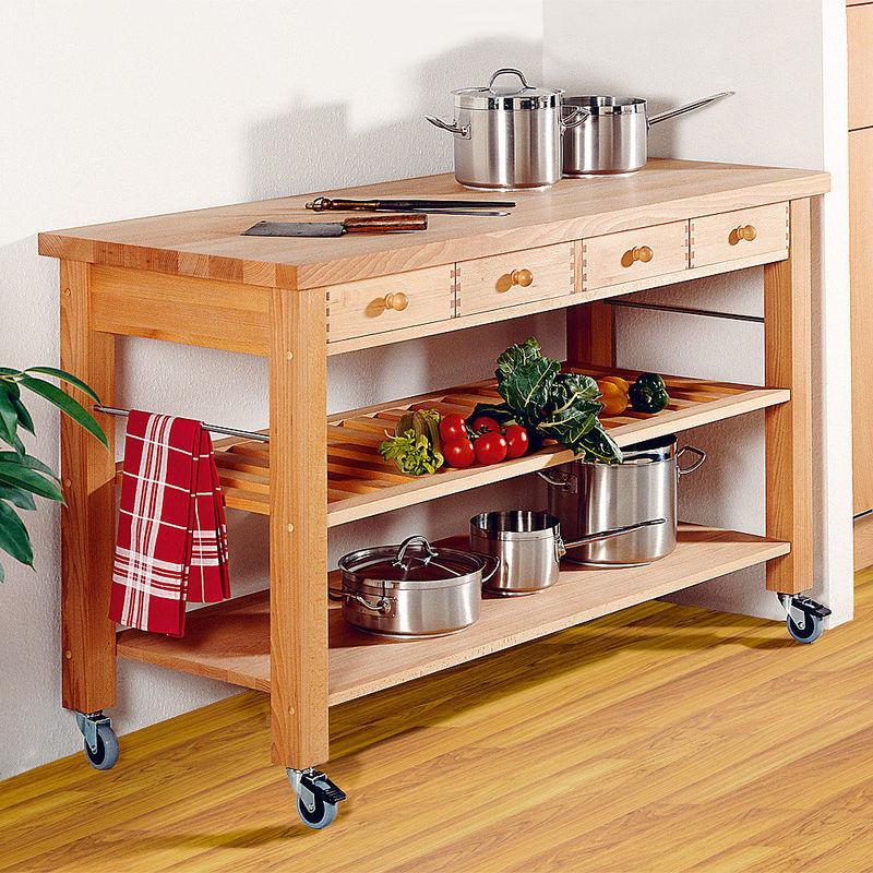 Mobile Küchenmöbel ohne Küchenkörbe - massiv, solide, preiswert ...