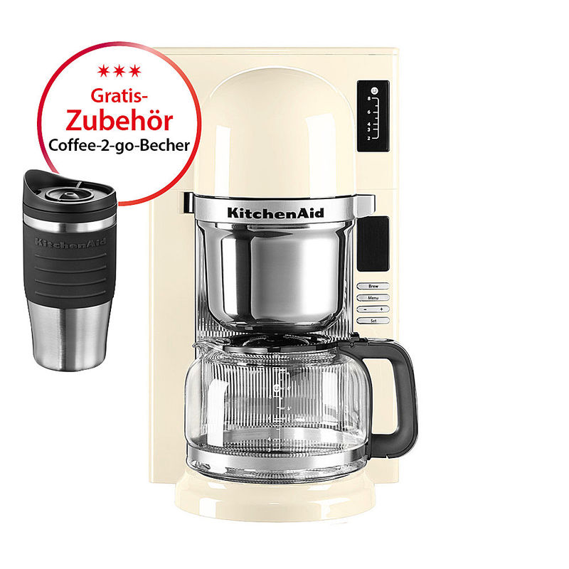 kitchenaid filter kaffeemaschine mit gratis zubeh r. Black Bedroom Furniture Sets. Home Design Ideas