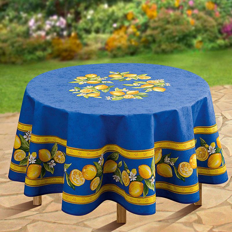 tischdecke rund zitrusfr chte tischw sche hagen grote. Black Bedroom Furniture Sets. Home Design Ideas