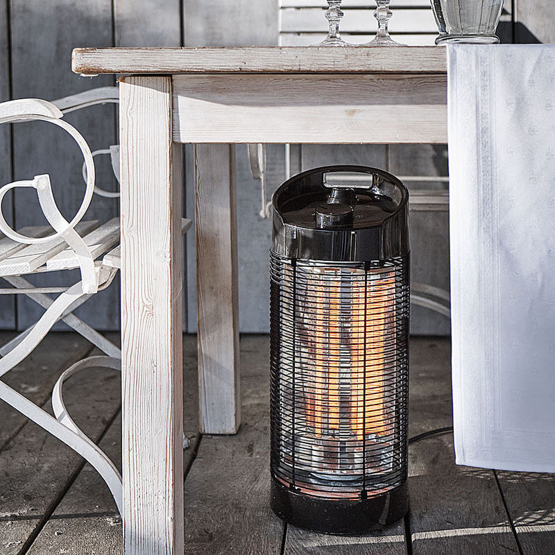 rotierender infrarot elektro terrassenheizer spendet angenehme strahlungsw rme f r 12 m hagen. Black Bedroom Furniture Sets. Home Design Ideas