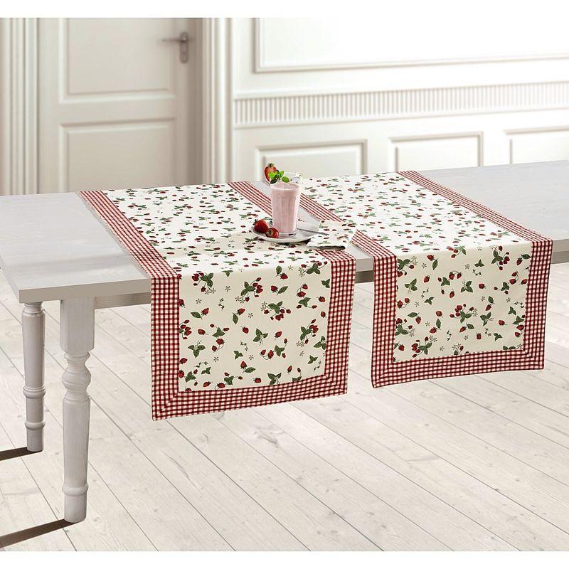 bezaubernde erdbeer tischw sche f r die sch ne jahreszeit. Black Bedroom Furniture Sets. Home Design Ideas