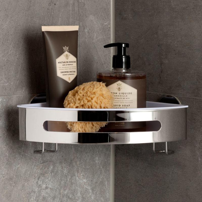 eckablage premium bad accessoires anbringung auch ohne bohren m glich julia grote. Black Bedroom Furniture Sets. Home Design Ideas