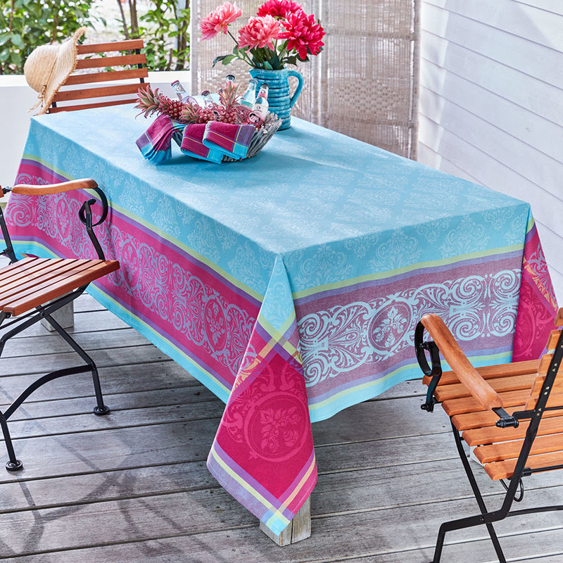 tischdecken farbenfrohe jacquard tischw sche mit. Black Bedroom Furniture Sets. Home Design Ideas